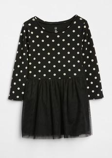 Gap Dot Mix-Fabric Dress