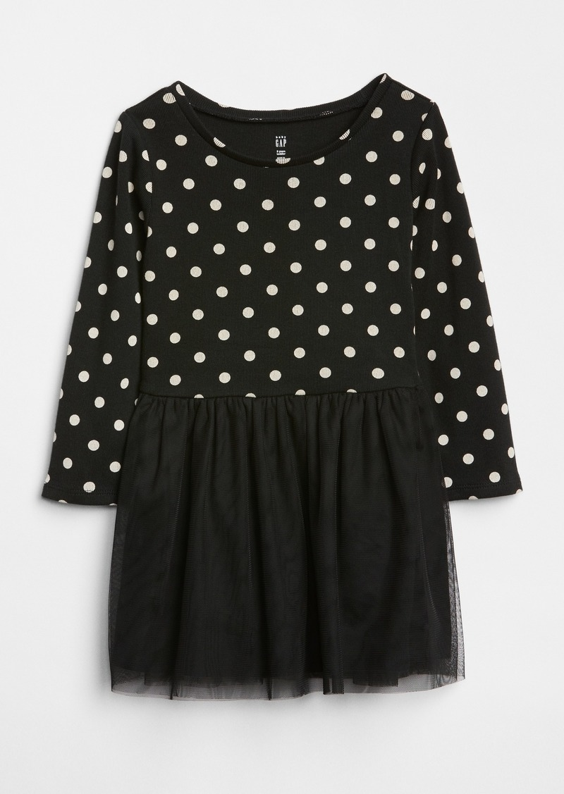 Gap Dot Mix-Fabric Dress