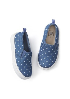 Gap Dotty chambray slip-on sneakers