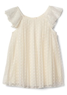 Gap Dotty pleat flutter dress