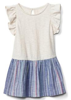 Gap Double-layer flutter keyhole dress