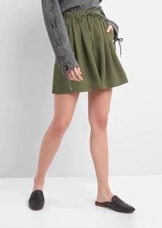 Gap Drapey crepe drawstring shorts