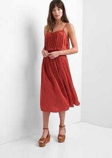 Drapey pleated midi dress