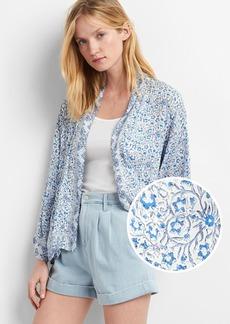 Drapey print kimono
