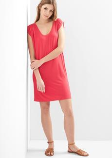 Drapey sleeveless scoop-neck dress