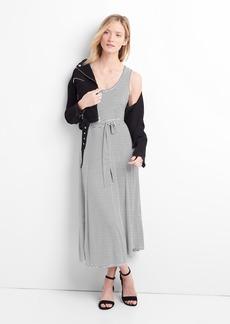Drapey tie-belt midi dress