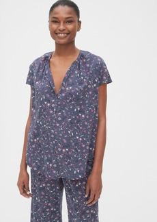 Gap Dreamwell Floral Print Popover Shirt