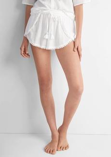 Gap DreamWell fringe sleep shorts