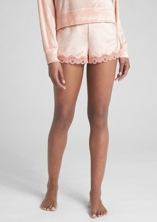 Gap Dreamwell Velour Shorts with Lace Trim
