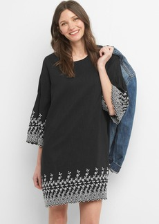 Gap Embroidered bell sleeve dress