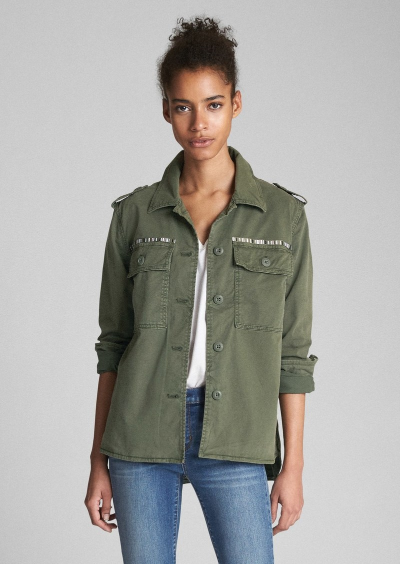 Gap Embroidered Chest Pocket Utility Jacket