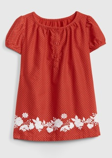 Gap Embroidered Floral Dot Dress