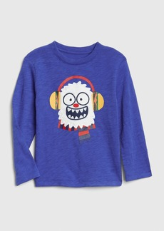 Gap Embroidered Graphic Long Sleeve T-Shirt