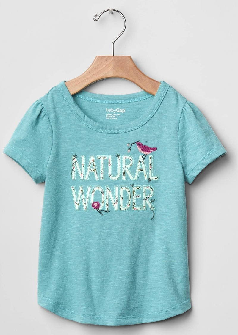 Gap Embroidered graphic tee