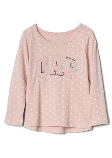 Gap Embroidered logo polka dot tee