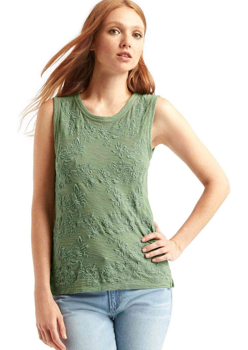 Gap Embroidered muscle tank