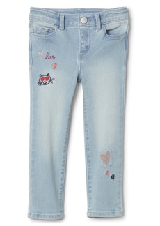 Gap Embroidered Skinny Jeans with High Stretch