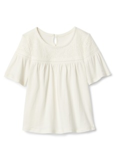 Gap Embroidery Elbow Sleeve Top