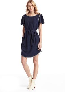 Embroidery flutter dress