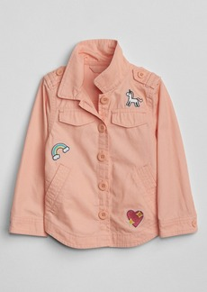 Gap Embroidery Patch Shirt Jacket