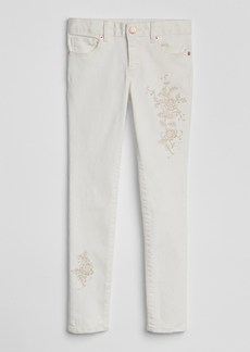 Gap Embroidery Super Skinny Jeans