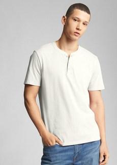 Gap Essential Short Sleeve Henley T-Shirt