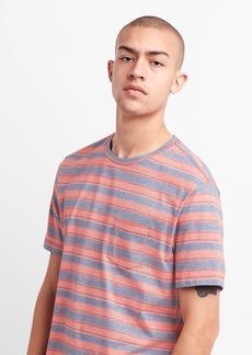 Gap Essential Stripe Crewneck Pocket T-Shirt