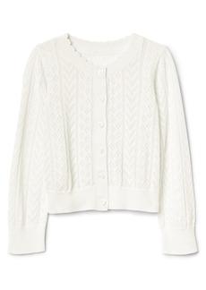 Gap Eyelet Cardigan Sweater