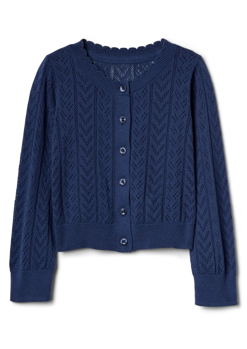 Gap Eyelet Cardigan Sweater