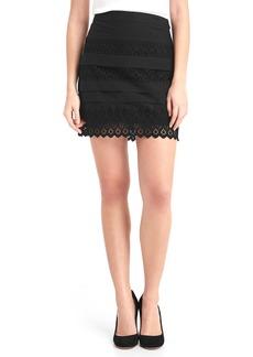 Gap Eyelet lace mini skirt