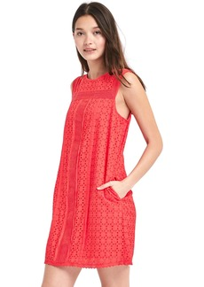 Gap Eyelet lace shift dress