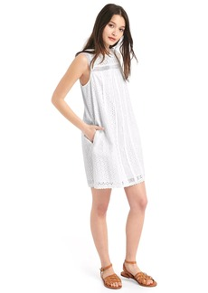 Eyelet lace shift dress