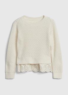 Gap Eyelet Peplum Sweater