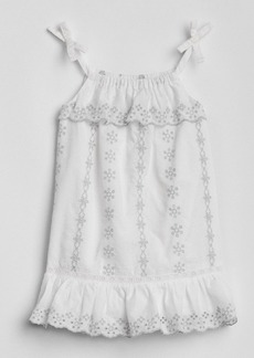 Gap Eyelet Ruffle Dress