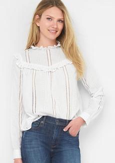 Gap Eyelet ruffle shirt