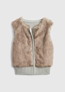 Gap Faux-Fur Sweater Vest