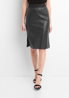 Gap Faux-leather pencil skirt
