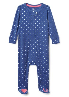Gap Favorite Dot Heart Footed One-Piece