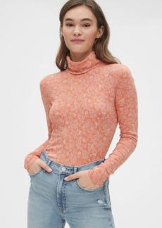 Gap Featherweight Print Turtleneck Top