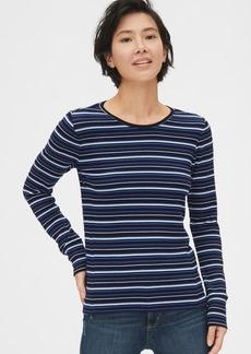 Gap Featherweight Ribbed Stripe Long Sleeve Crewneck T-Shirt