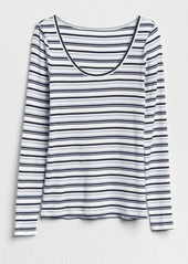 5d4e47d9a9 ... Gap Featherweight Ribbed Stripe Long Sleeve T-Shirt ...