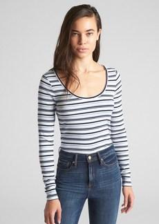 Gap Featherweight Ribbed Stripe Long Sleeve T-Shirt