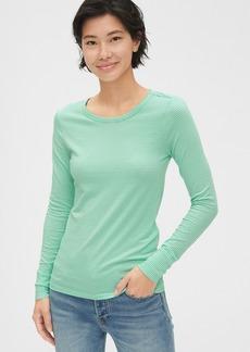 Gap Featherweight Stripe Long Sleeve Crewneck T-Shirt