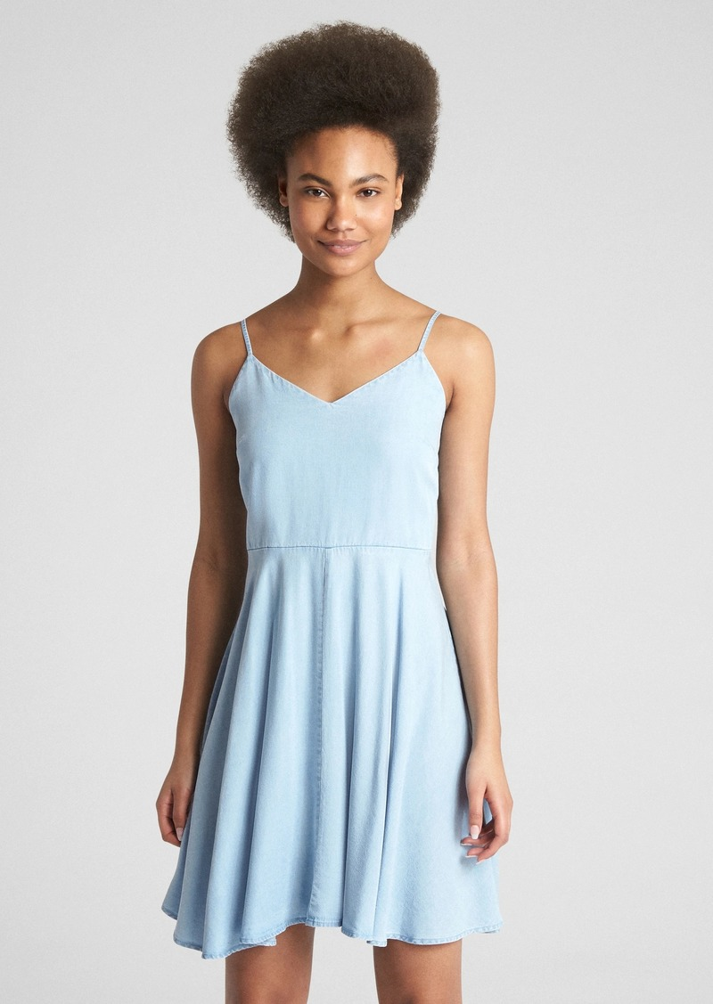 fc1e2fa96cb Gap Fit and Flare Cami Dress in TENCEL  153 Now  16.50
