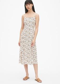 Gap Fit and Flare Cami Midi Dress
