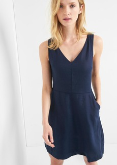 Gap Fit and flare V-neck dress
