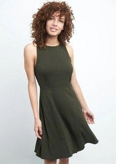 Fit and flare wrap dress