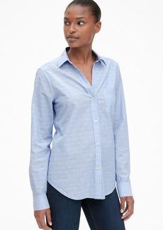 Gap Fitted Boyfriend Shirt in Clip Dot