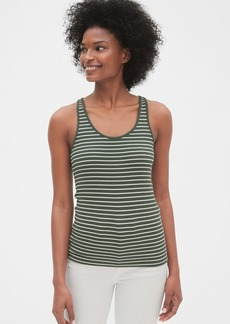 Gap Flat Back Rib Stripe Tank Top