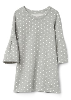 Gap Fleece dot bell sleeve dress